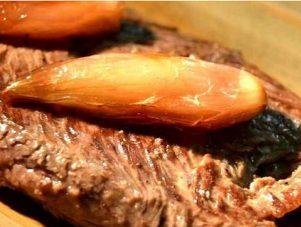 Restaurant Soissons La Bourse Aux Grains : bavette aloyau echalottes confites