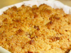 Restaurant Soissons La Bourse Aux Grains : crumble de pommes