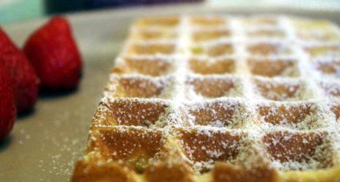 Restaurant Soissons La Bourse Aux Grains : gaufre sucre