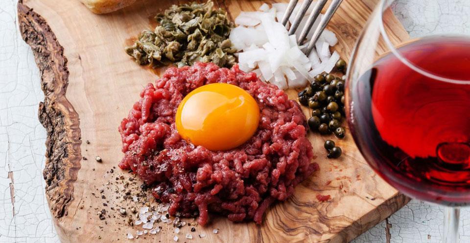Restaurant Soissons La Bourse Aux Grains : tartare de boeuf