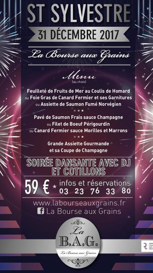 Restaurant Soissons La Bourse Aux Grains Saint Sylvestre 2017