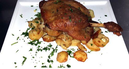 Restaurant Soissons La Bourse Aux Grains : Cuisse de canard confite
