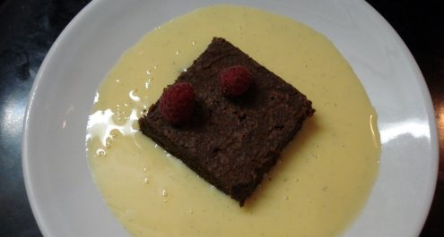 Restaurant Soissons La Bourse Aux Grains : brownies chocolat vanille