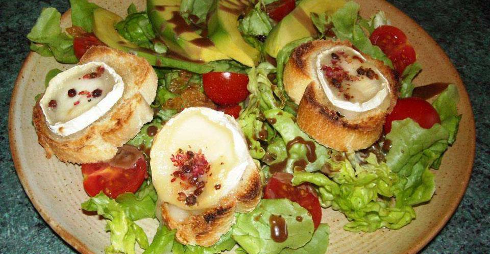 Restaurant Soissons La Bourse Aux Grains : salade chevre chaud