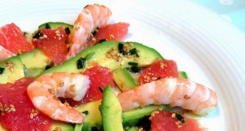 Restaurant Soissons La Bourse Aux Grains : salade crevette avocat
